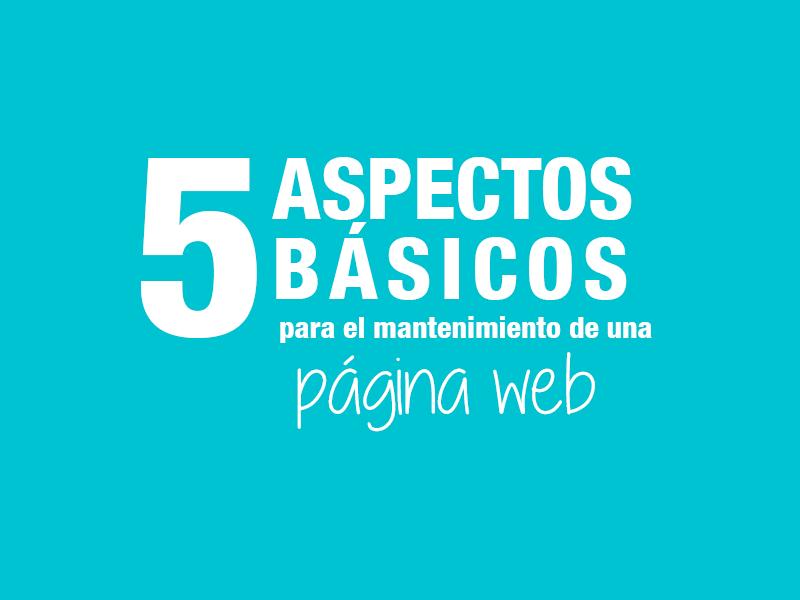 5 aspectos mantenimiento web