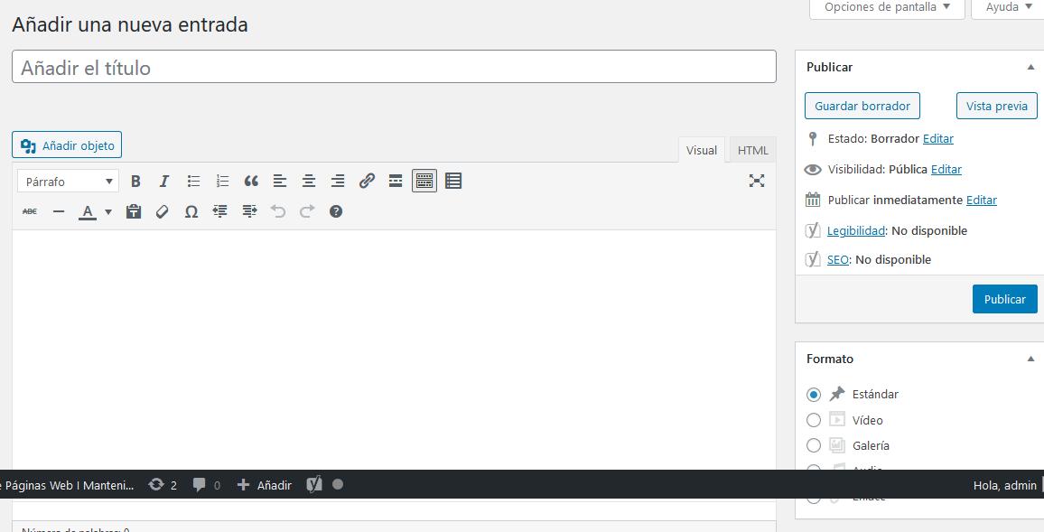 como crear una entrada en wordpress diseño web madrid kreitz